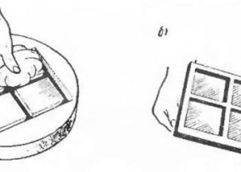 Формование в гипсе плоских изделий типа изразца