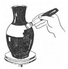 Ангобирование кистью