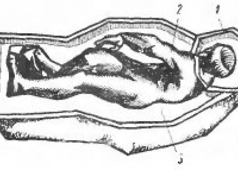 Кусковая форма со скульптурной гипсовой модели